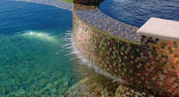 colorful stone mosaic best pool tile