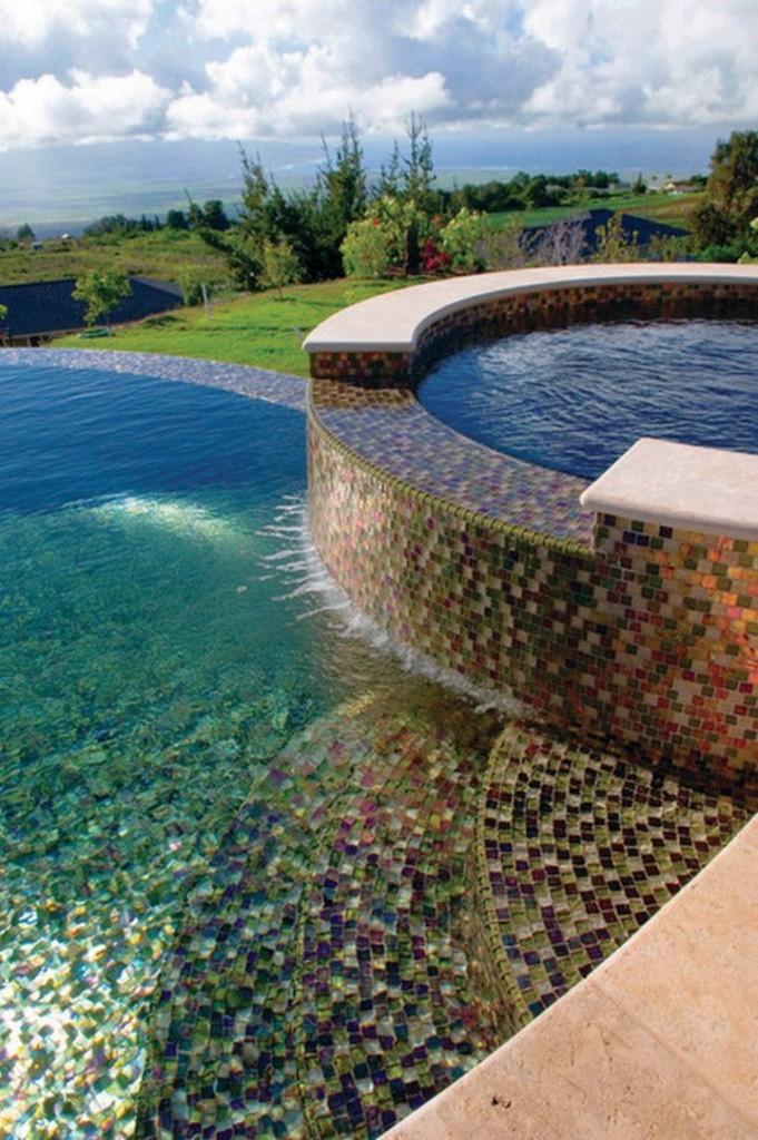 Modern Pool Tile Ideas Waterline