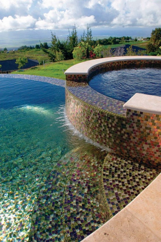 Best pool tile designs that will impress every eyes for Pool design features