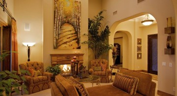 comfortable minimalist tuscan living room designs