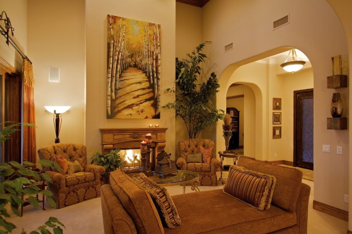 20 awesome tuscan living room designs - Pictures of decorated living rooms ...
