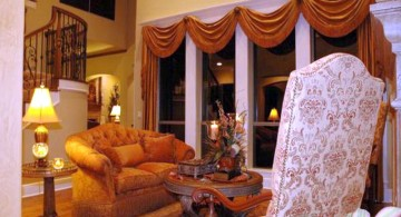 comfortable tuscan living room colors in terracotta