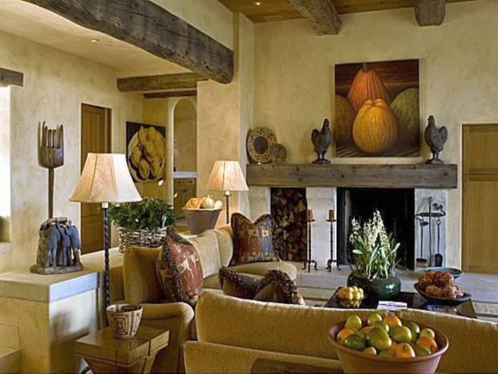 comfortable tuscan living room colors