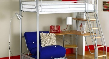 contemporary adult loft beds with desk with sofa bed