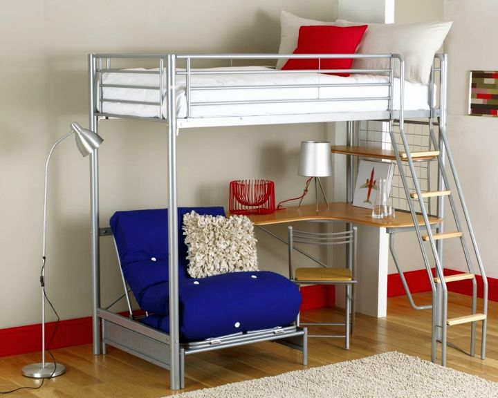 Edgy Adult Loft Beds with Desk Design Ideas