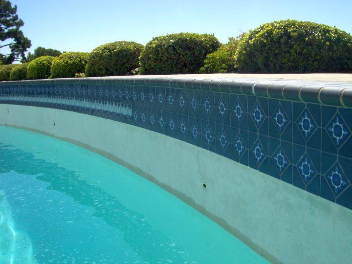 contemporary blue best pool tile