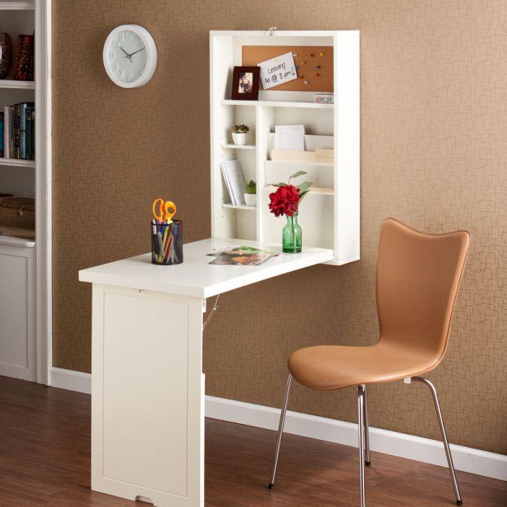 contemporary hideaway desk designs for narrow space
