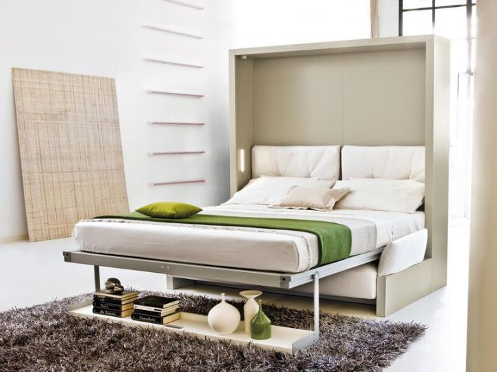 contemporary murphy bed couch ideas in white