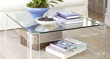 contemporary square acrylic coffee tables