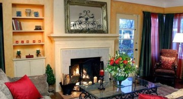 contemporary tuscan living room colors