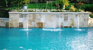 contemporary waterfalls for pools inground