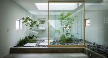 contemporary zen style Japanese bathroom designs