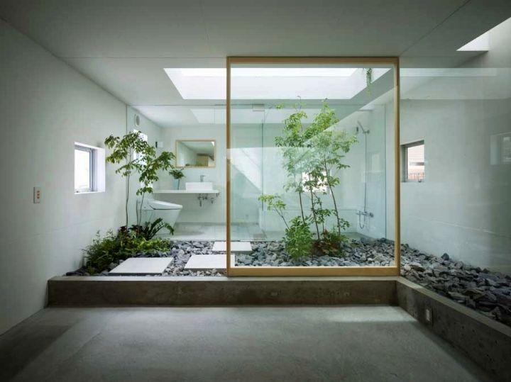 contemporary zen style Japanese bathroom designs