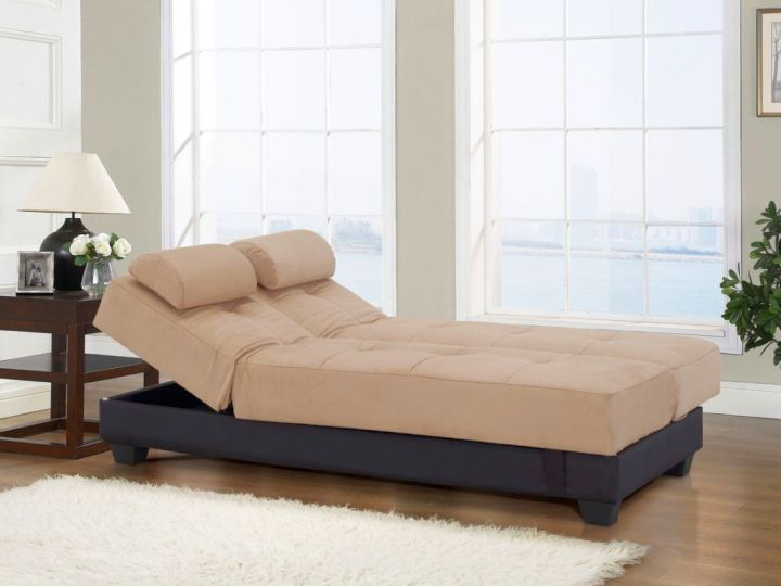 convertible bed designs in beige and espresso