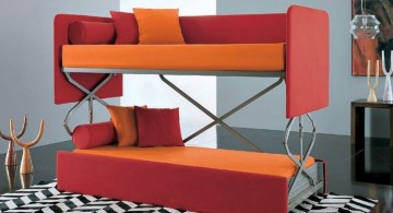 cool convertible bed designs in orange