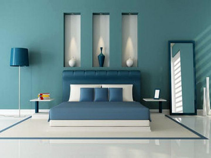 Modern Bedroom Blue