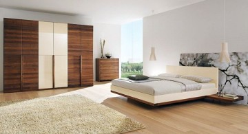 cool modern bedrooms in white with rustic closet