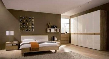 cool modern bedrooms with mounted wall closet