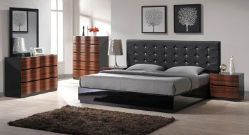 cool modern bedrooms with tall headboard