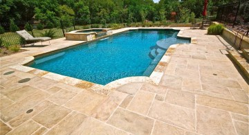 cream marble pool deck stone