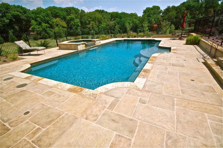 cream marble pool deck stone