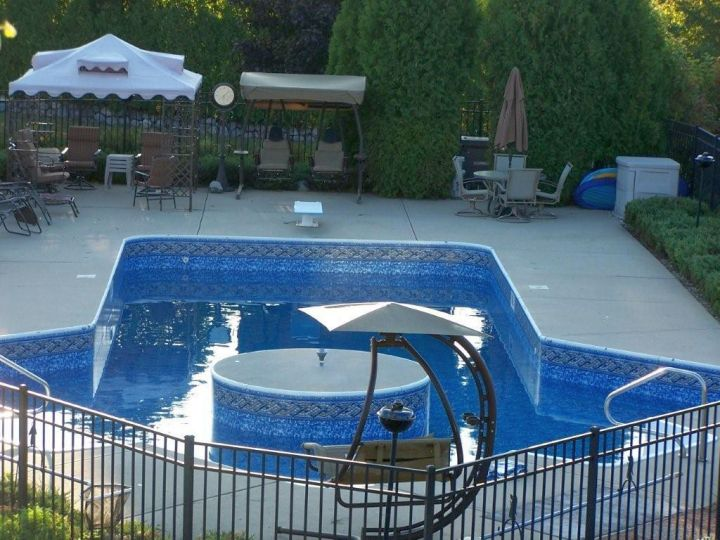 double lazy l pool designs for spacious yard