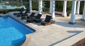 elegant pool deck stone