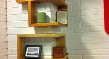 elegant wall shelves for small corner