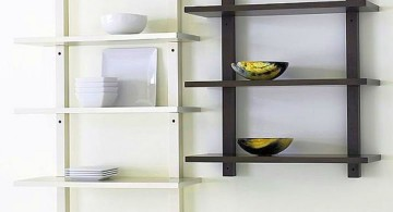 elegant wall shelves in black and white