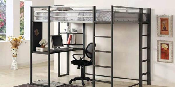 Edgy Adult Loft Beds with Desk Design Ideas