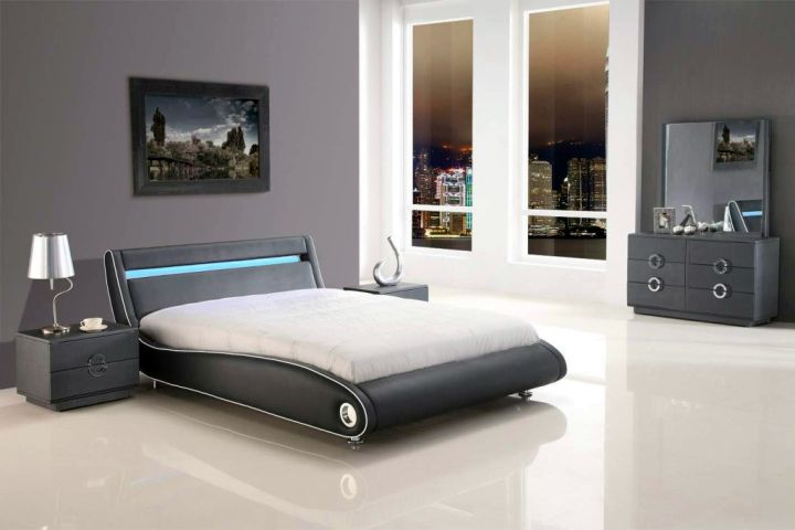 futuristic cool modern bedrooms with curved bed