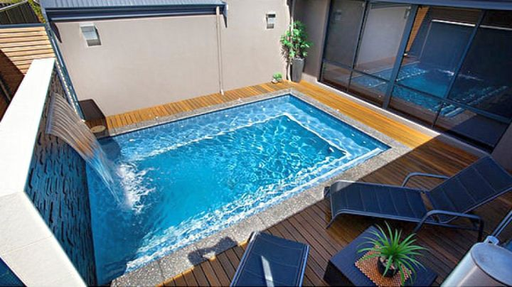 geometric swimming pools for small spaces