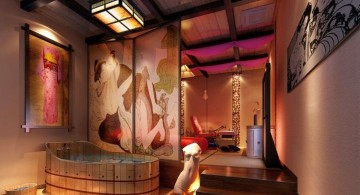 glamorous and luxurious Japanese bathroom designs