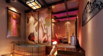 glamorous and luxurious Japanese bathroom designs