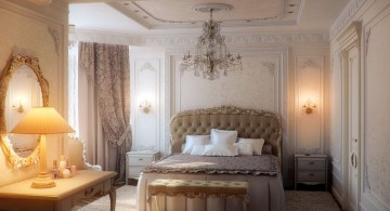 glamorous most romantic bedrooms with chandelier