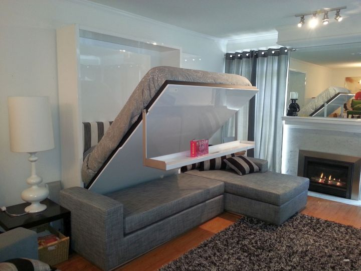 grey murphy bed couch ideas for small aprtment