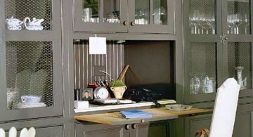 hideaway desk designs that attached to cupboard