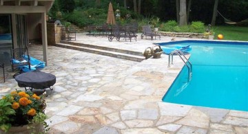 large cut pool deck stone