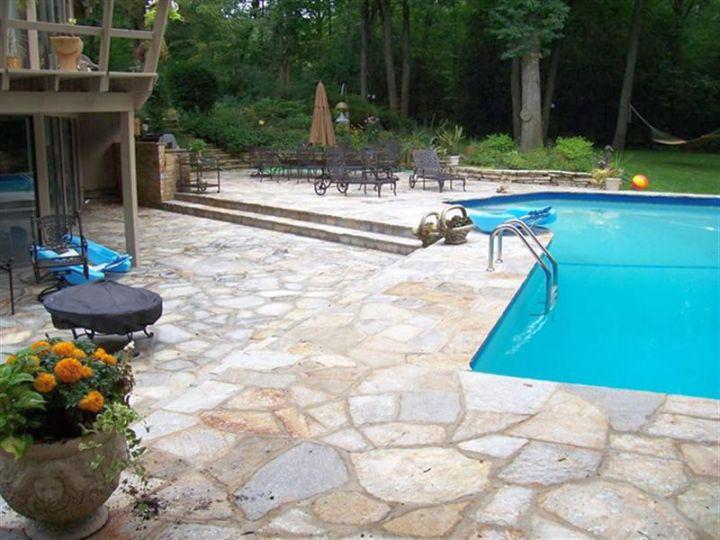 large cut pool deck stone