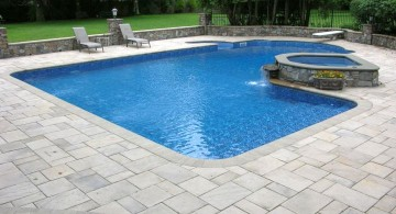 lazy l pool designs with Jacuzzi