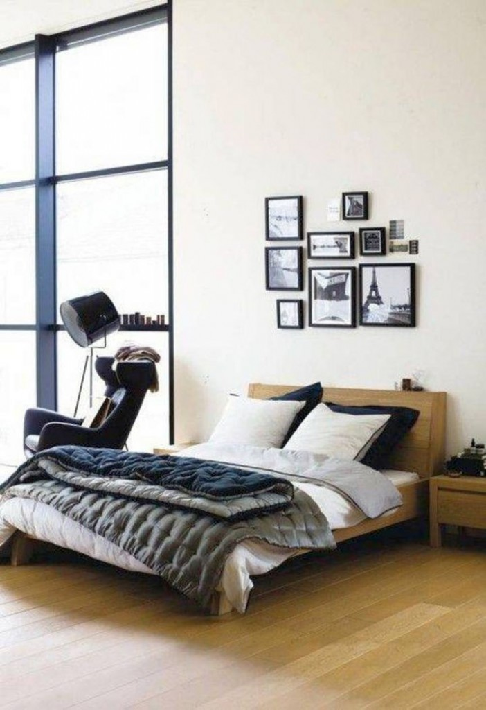 minimalist contemporary bachelor bedroom decorating ideas