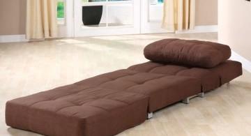 minimalist convertible bed designs in dark brown