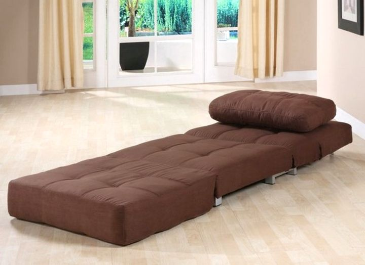 minimalist convertible bed designs in dark brown