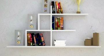 minimalist elegant wall shelves in white