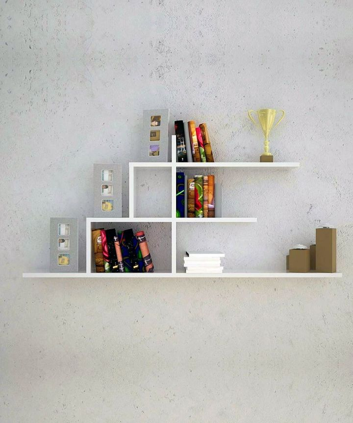 minimalist elegant wall shelves in white rh myaustinelite com Artistics Wall Shelves Wall Shelves and Ledges