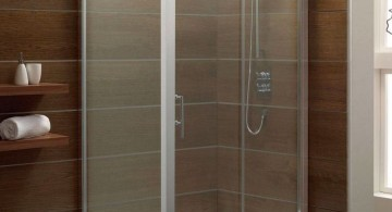 minimalist encased shower Japanese bathroom designs