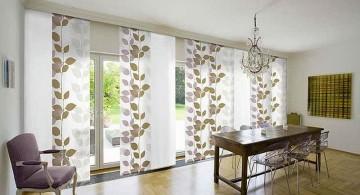 minimalist modern sliding glass door designs with homemade hanging decor