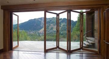modern sliding glass door designs accordion style