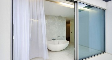 modern sliding glass door designs for the bathroom
