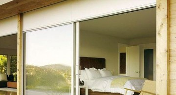 modern sliding glass door designs that connect the bedroom